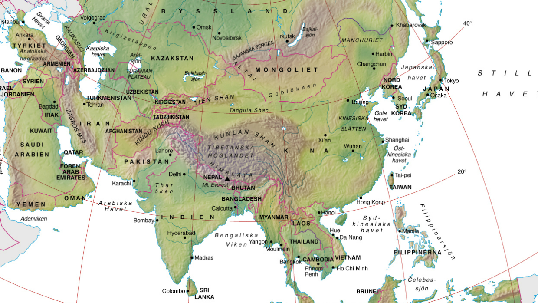 Karta Over Varldens Bergskedjor.Kinas Klimat Och Geografi Laromedel I Geografi Ak 7 8 9